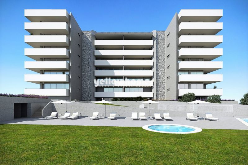Modern 2 and 3-bed apartments under construction with large balconies in Lagos